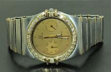 AUTHENTIC OMEGA CONSTELLATION 18K GOLD/STAINLESS STEEL  MEN'S DIAMOND WATCH