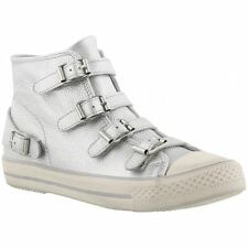 Ash Venus Silver Womens Leather High-top Sneakers Trainers