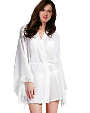 Womens Sheer Kimono Robe Gown Nightie Lingerie Chemise Bath Robes Sleepwear