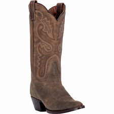 Dan Post Womens Bay Distressed Leather Marla 12in R Toe Cowboy Boots