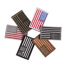 Embroidered Flag American Patch Usa Iron Patches Patriotic Border Military Sew