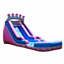 Commercial Grade Inflatable 18' Princess Dino Party Water Slide Bounce House