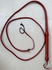 Bull Whip Real Leather 12 feet Long- 8 Plait-with A Big Handle Free Shipping