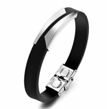 Fashion Hollow Out Adjustable Length Stainless Steel Metal Bracelet For Men