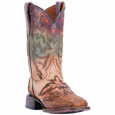 Dan Post Womens Multi-Color Cowboy Boots Painted Leather Cowboy Boots