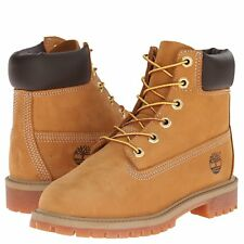 "NEW Timberland 6"" Premium Wheat Nubuck Leather Boots TB012909-713  Youth/Juniors"