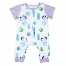 Toddler Clothing Cotton Cactus Short Sleeves Baby Girl Romper Floral Jumpsuit