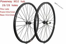 Hookless 30mm width 29er carbon mountain wheelset tubeless compatible AM/DH