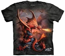 Fire Dragon Tie Dye T-Shirt in Childrens Sizes - Fantasy Art by The Mountain