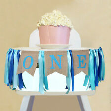 1st Birthday Banner I AM ONE Highchair Banner Baby Shower Decoration Party Favor