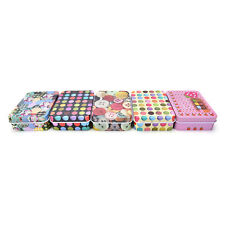 Mini Tin Metal Container Small Rectangle Lovely Cute Storage Box Case Pattern