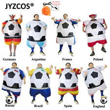Inflatable Football Player Costume World Cup Soccer Dress Adults Carnival Outfit