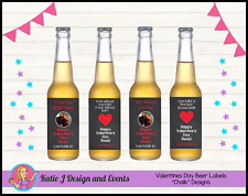 ** CUSTOM PERSONALISED VALENTINES DAY GIFT BEER BOTTLE LABELS GIFTS PRESENTS **