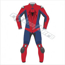 SPIDERMAN-1/2 PC Motorbike/Motorcycle Racing Leather Suit Cowhide-Biker-MotoGp