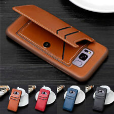 For Samsung Galaxy S8 S9+ Note 8 Magnetic Flip Leather Case Slim Card Slot Cover