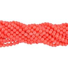 """Orange Coral Beads Loose Round Smooth Bead Jewelry Making Bohemian 15"""" 4mm 5mm"""