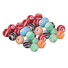 Mixed Color Acrylic Round Loose Beads Striped 16/12mm, Jewelry, Craft, Charm
