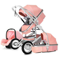Baby Stroller 3 in 1 High view travel foldable pushchair bassinet Car Seat pram