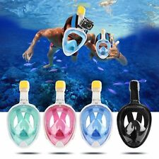 Swimming Diving Full Face Breath Anti-fog Mask Surface Snorkel Scuba for GoPro