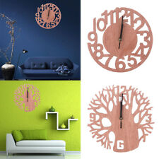 Novelty Wooden Tree Wall Clock 3D DIY Watches Living Room Home Office Decor Gift