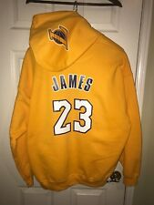 LA Los Angeles Lakers Lebron James Home Jersey Hoodie Hoody Hooded Sweatshirt