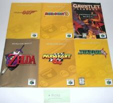 Nintendo 64 N64 Manuals Only Instruction Inserts NO GAME Mario Fox Diddy Zelda