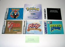 Game Boy Color Advance Manuals Only NO GAME Kirby Mario Pokemon Link GBA Gameboy