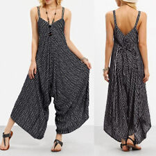 Chic Women Strappy V Neck Bandage Casual Loose Playsuit Party Clubwear Jumpsuit