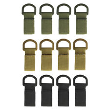 4x Molle Camping Nylon Clip Belt Tactical Backpack Keychain Webbing Buckle