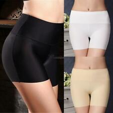 Women Casual Solid Ice Silk High Waist Seamless Safety Short Pants WT88 01