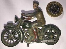 VINTAGE MILITARY LEAD MOTORCYCLE & RIDER
