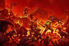 187656 Doom Game PC Dos Atari Xbox PS4 3DO Snes Wall Print Poster Plakat
