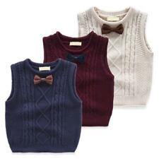 Baby Vests Fashion Waistcoat Childrens Boys Spring Autumn Knitted Tops Cotton