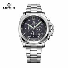Megir 3006 luxury business quartz watch men waterproof wristwatch stainless stee