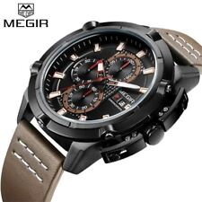 MEGIR Sports Watches Men Luxury Brand Army Military Mens Watches Male