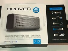 BRAVEN 710 Portable Wireless Bluetooth Speaker 12 Hours-Water Resistant Built HD