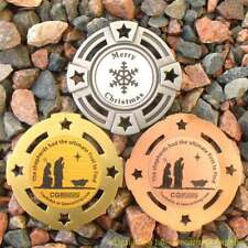 "Christmas Shepherds Geomedal Geocoin (2"" + Cutouts, Unactivated)"