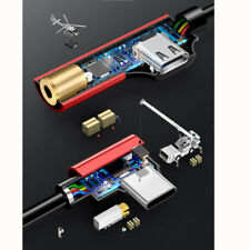 Hot USAMS USB 2 in 1 Type-C to 3.5mm Adapter Charge and Headphone Head Aux Audio