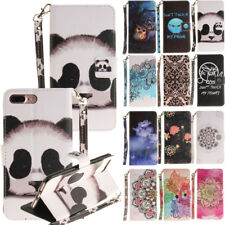 Colourful Flip Leather Wallet Card Holder Stand Case Cover For Iphone 6 7 Plus