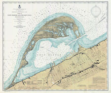 1901 Nautical Map of Erie Harbor and Presque Isle Erie County Pa