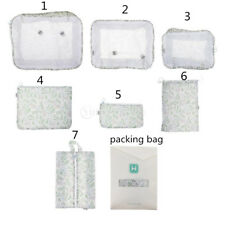 7pcs Waterproof Clothes Storage Bag Packing Travel Luggage Organizers Pouch