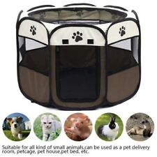 Portable Folding Pet Tent Playpen Dog House Fence Kennel Cat Cage