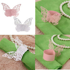 50Pcs Butterfly Napkin Ring Paper Holder Table Party Wedding Favors BanquetFF