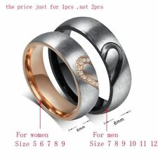 New Fashion Heart Shaped Wedding Wear Rings for Women and Men