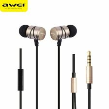 AWEI Q5I Metal Earbuds Heavy Bass In-Ear Headset Stereo Headphone With Mic