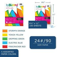 """Kaboom Glimmer Pastel Assorted Colored Paper, 8.5"""" x 11"""", 100 sheets"""