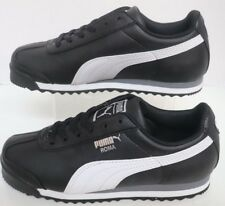 Puma Roma Basic Jr Blk/White-Puma Silver 354259-01 Toddler Size