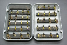 Fly Box Mixed Trout Fishing Flies Wet Dry Nymph Buzzers 40 pack, 3 color choices