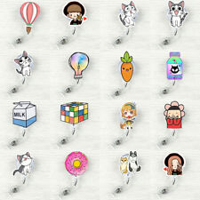 Cute Retractable Badge Reel Student Exihibiton ID Name Card Badge Holder Gift