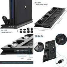 Playstation 4 Controller Charging Station Vertical Stand With Dual Cooling Fan
